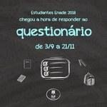 Atenção para o final de prazo para responder o questionário do Enade