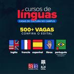 Casas de Cultura no Campus abrem inscrições para cursos de línguas