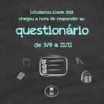 Concluintes inscritos no Enade 2018 já podem preencher Questionário do Estudante