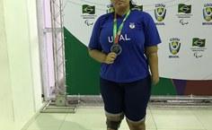 Erica Ferro conquistou três medalhas para a Ufal na Paralimpíadas Universitárias