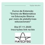 Grupo de Matemática capacita professores da educação básica