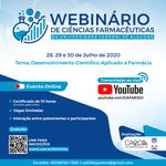 Webinário debate desenvolvimento científico nas Ciências Farmacêuticas
