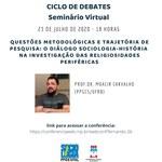 Programa de pós em Sociologia promove mais um ciclo de debates