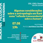 Kant e a Antropologia em debate nesta sexta com Mora na Filosofia