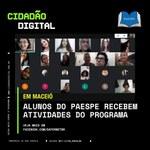 Estudantes do Paespe participam de formação sobre cidadania digital