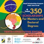 Edital oferta mais de 350 bolsas de pós-graduação em 40 Universidades Brasileiras