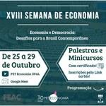 Semana de Economia acontece em edição virtual nos 30 anos do PET
