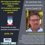 Abertura da 2ª etapa do Caic e do Cait terá palestra sobre vacinas para a covid-19