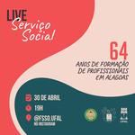 Evento on-line vai celebrar 64 anos de formação em Serviço Social em Alagoas