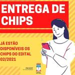 Chips do edital Alunos Conectados estão disponíveis para retirada