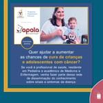 Apala oferta capacitação sobre Diagnóstico Precoce do Câncer Infantojuvenil