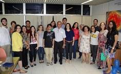 Manoel Mota ao lado de seus companheiros de Assessoria de Comunicação