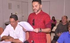 Lucianlo de Araújo fez a leitura do Termo de Ética do servidor público