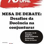Adufal promove debates em homenagem ao Dia do Professor