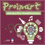 Prazo final para inscrições no Proinart é adiado para o dia 5