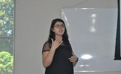 Daniella Pontes, do  DCF, ministrou o curso no período da manhã
