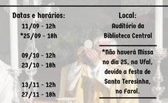 Calendário das missas