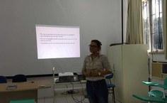 Primeira aula da capacitação para a assistentes sociais da Proest