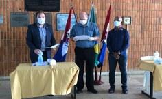 Cerimônia de posse seguiu recomendações de saúde contra covid-19