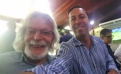 Professor João Xavier com o orientador da UFRJ Eliezer Jesus Barreiro
