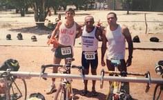 Professor Krerley Oliveira competindo pela equipe de triathlon da UFRJ. Foto: Arquivo pessoal