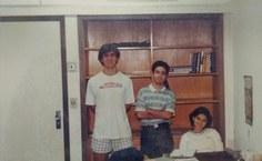 Professor Krerley com colegas no Impa. Foto: Arquivo pessoal