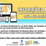 Ufal Conectada promove debate virtual para professores de Matemática e estudantes