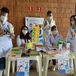 Servidoras e alunos da Enfermagem montam barreira sanitária na Reitoria