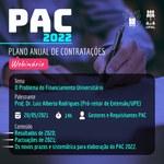 Financiamento universitário será pauta no webinário do PAC 2022