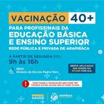 Servidores do Campus Arapiraca serão vacinados a partir desta segunda
