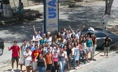 Movimento estudantil religioso Alfa e Ômega no Campus A.C. Simões