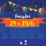 Dias 24 e 29 de junho : feriados Acadêmico e Administrativo na Ufal