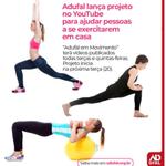 Adufal em Movimento quer ajudar pessoas a se exercitarem em casa
