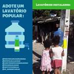 Grupo de Pesquisa apoia instalação de lavatórios em comunidades de Maceió