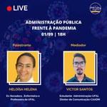 Administração pública na pandemia é tema de palestra nesta terça (1º)