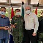 Reitor recebe deputado Cabo Bebeto e policiais do Batalhão Ambiental