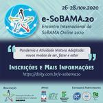 Encontro internacional da Sobama debate atividade motora adaptada na pandemia