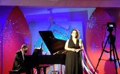 A soprano Ludmilla Bauerfeldt e o pianista André dos Santos