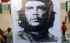 banner do Che no ginásio