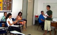 estudantes participam de oficinas sobre hanseniase