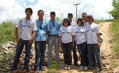 Técnicos da Usina Caeté e pesquisadores da Ufal envolvidos no projeto ambiental