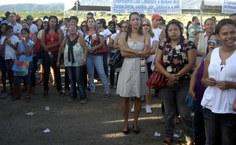 Professores e a população da cidade prestigiaram o evento