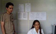 Professor Wagnner Porto e a vice-coordenadora, Annelise Barreto