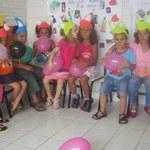 Crianças do NDI comemoram a Páscoa com lanche coletivo