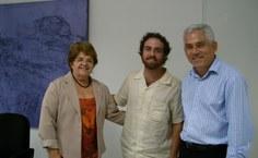 Wagner Neves, com a reitora e o vice-reitor