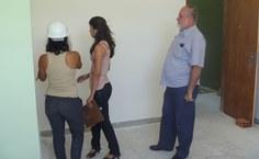 Visita do Pró-reitor Pedro Nelson e de engenheiras da Sinfra às obras