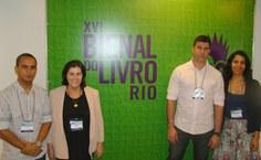 Equipe Edufal que esteve na Bienal do Rio - Donizetti Calheiros, Stela Lameiras, Sebastião Medeiros e Carol Almeida