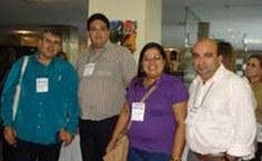 Pró-reitor Amauri Barros,o professor Luis Paulo Mercado e equipe