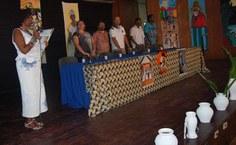 Professora nadir Nobre dá as boas-vindas aos participantes