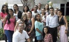 Professor Vieira e seus alunos no Simpósio Nacional de História, nem Natal, realizado em julho de 2013